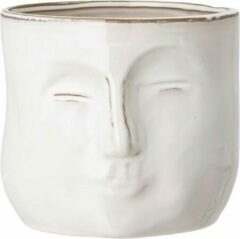 Bloomingville pot met gezicht 16,5x18 cm Wit