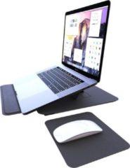 Grijze Laptop Standaard - Stand - Laptopstandaard - Houder - Lightgewicht - Laptophoes - Muismat - Polssteun - Proqit Smartcase
