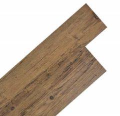 VidaXL Vloerplanken zelfklevend 5,02 m 2 mm PVC walnoot bruin