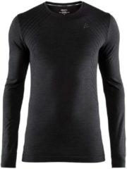 Zwarte CRAFT fietsmet lange mouwen Fuseknit Comfort onderhemd, voor heren, Maat M,