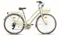Montana Bike 28 Zoll Damen City Fahrrad Montana Lunapiena 7... creme, 44cm