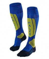 Blauwe Falke SK5 skisokken heren blauw/geel
