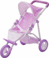 Olivia's Little World Olivias' Little World Paarse Kinderpoppenwagen voor poppen van 40 cm met mandje OL-00006