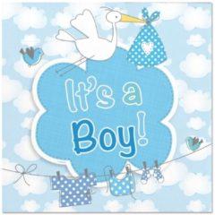 Blauwe Ootje Kadootje Geboorte Jongen Servetten It's a Boy - 20 stuks