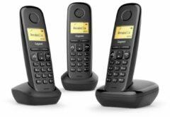 Siemens Gigaset A270 Trio DECT-telefoon Zwart Nummerherkenning