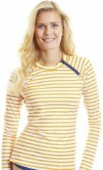 Cabana Life Zwemtop Dames met rits Gestreept - Oranje - Maat 44 (XL)