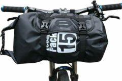 Zwarte Merkloos / Sans marque Waterdichte Stuurtas - Fietsen Fiets Tas Accessoires - Mountainbike - 15 Liter