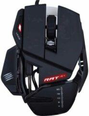MadCatz R.A.T. 4+ USB gaming-muis Optisch Verlicht, Ergonomisch, Polssteun Zwart