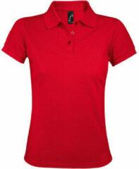 Rode Polo Shirt Korte Mouw Sols PRIME ELEGANT WOMEN