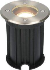 Roestvrijstalen HOFTRONIC™ Maisy dimbare LED grondspot rond RVS 5W 2700K IP67 straal waterdicht 3 jaar garantie