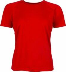 Brooks Basic SS Sportshirt - Maat XL - Vrouwen - rood
