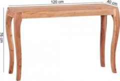 Wohnling Konsolentisch KILA Massivholz Akazie Sekretär 120 cm Ablage Konsole Schreibtisch Schminktisch im Landhausstil