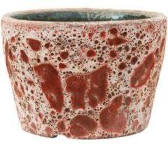 Baq Design Lava Relic Pink bloempot binnen 25x25x17 cm
