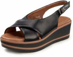 Sandalen van geitennappaleer Van Peter Hahn zwart