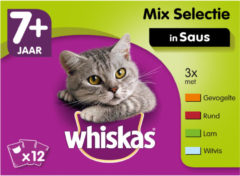 Whiskas Senior Multipack Mix in Saus 12 x 100 gr