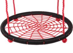 Beige Merkloos / Sans marque Nestschommel Ø90cm Zwart-rood PP touwen