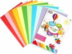 Paarse Craft Sensations Gekleurd papier | 100 vellen | vouwpapier | Origami | A4 formaat | 10 verschillende kleuren