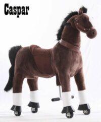 """Kids-Horse Animal Riding, rijdend speelgoed paard, donkerbruin met witte bles en hoef 4-9 jaar, Kids-Horse """"Caspar"""" (TB-2009M)"""