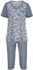 Schlafanzug Ascafa blau/ecru/apricot