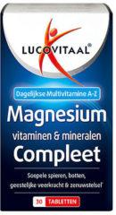 Lucovitaal Magnesium, Vitamine & Mineralen Voedingssupplementen 30 tabletten - Complete multivitaminen met hoge dosering Magnesium