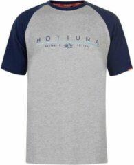 Hot Tuna Printed T-Shirt - Maat S - Heren - Grijs/blauw