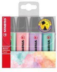 Stabilo Textmarker STABILO BOSS® ORIGINAL PASTELL 4 stuks/pack Veelkleurig gesorteerd 2 mm, 5 mm
