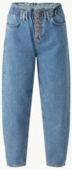 Lichtblauwe Benetton High waist tapered fit cropped jeans