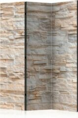 Beige Kamerscherm - Scheidingswand - Vouwscherm - Stony Gracefulness [Room Dividers] 135x172 - Artgeist Vouwscherm