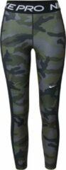 Zwarte Nike nike pro camouflage 7/8 sporttight grijs dames