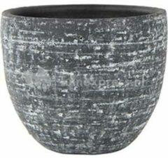 Antraciet-grijze Ter Steege Pot Karlijn antraciet bloempot binnen 28 cm