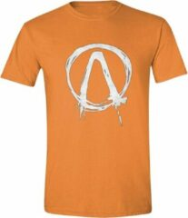 Borderlands - Dripping Logo Heren T-Shirt - Oranje - S