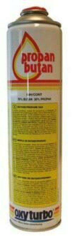 Oxyturbo universele gasfles 600 ml. Voor onkruidbrander / gasbrander