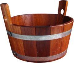 Sauna Poolcare Sauna Voetenbad Gelakt van Kambala-hout (16L)