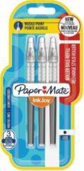Papermate Paper Mate InkJoy vulling voor liquid-ink roller fijn, zwart, blister met 3 vullingen