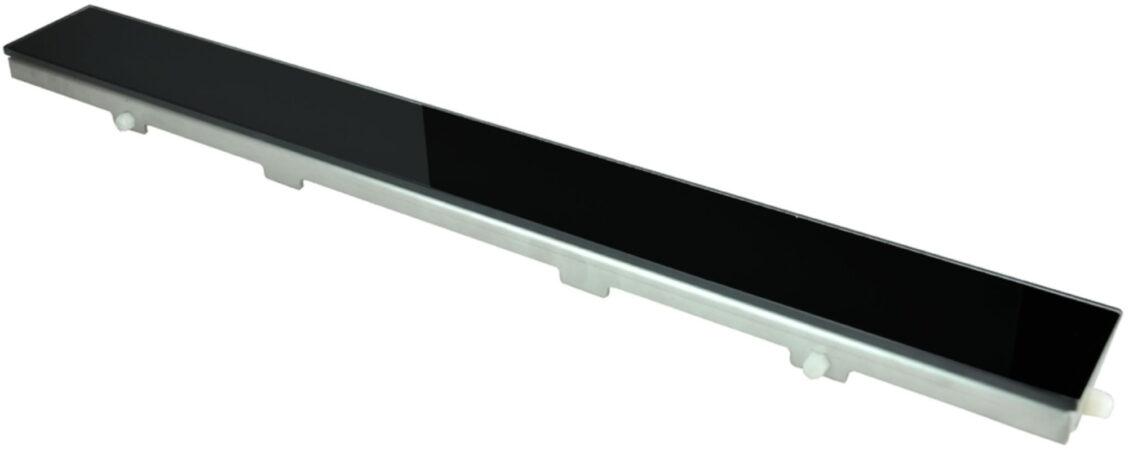 Afbeelding van Boss & Wessing AQS Glasrooster Tbv RVS Douchegoot 80x7 cm Zwart