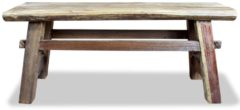 Bruine VidaXL Bank 100x28x43 cm massief gerecycled hout