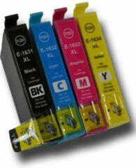 Cyane Inkmaster Huismerk Epson 16XL Multipack van 4 XXL cartridges voor Epson Workforce 2010W, 2510WF, 2520NF, 2530WF, 2540WF, 2630WF, 2650WF, 2660WF, 2750DWF, 2760DWF