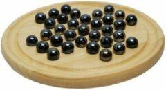 HOT Games Solitair hout 22 cm.m.zwarte glazen kogels