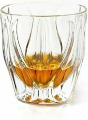 Bohemia Moderne kristallen glazen OCEAN voor sterk drank - 6 stuks - whiskyglas