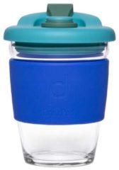 Set van 2 - Herbruikbare Koffiebeker - 340ml - Oceaan Blauw - Glas - Pioneer