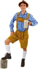 PartyXplosion Boeren Tirol & Oktoberfest Kostuum | Tiroler Bierfest Broek Kort Lichtbruin Markus Man | Maat 58-60 | Bierfeest | Verkleedkleding
