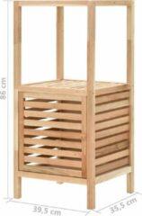 Merkloos / Sans marque Badkamerkast 39.5x35.5x86 cm bruin / badkamer kast hout bruin / handdoeken kast badkamer hout