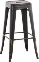 CLP Metall-Barhocker JOSHUA, klassich, robust & stapelbar, aus bis zu 7 Farben wählen, Sitzhöhe 77 cm