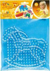 Transparante JBM Maxi Strijkkralen Grondplaat Hama Hart + Paard