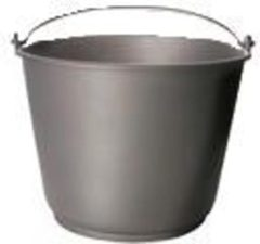 Berdal Gripline Bouwemmer 20 liter grijs kunststof met knopbeugel