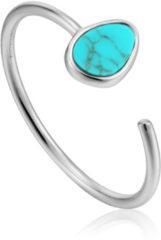 Ania Haie Ringen AH R027-02H 925 Sterling Zilver Turning Tides Ring Zilverkleurig