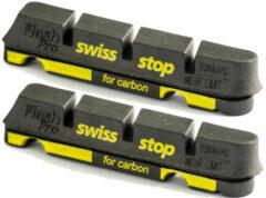 Zwarte Swisstop Flash Pro Black Prince carbon remblokken (velgrem) - Remblokken voor velgremmen
