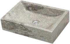 Grijze Waskom Imso Lavabo Quadrato Grigio Marmer 50x35x12 cm