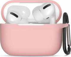 JVS Products Apple Airpods Pro ultra dunne siliconen cover - Hoesje - extra dunne Apple Airpods siliconen cover met sleutelhanger - Babyroze