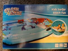 Blauwe Splash & Fun Luchtbed kind met venster